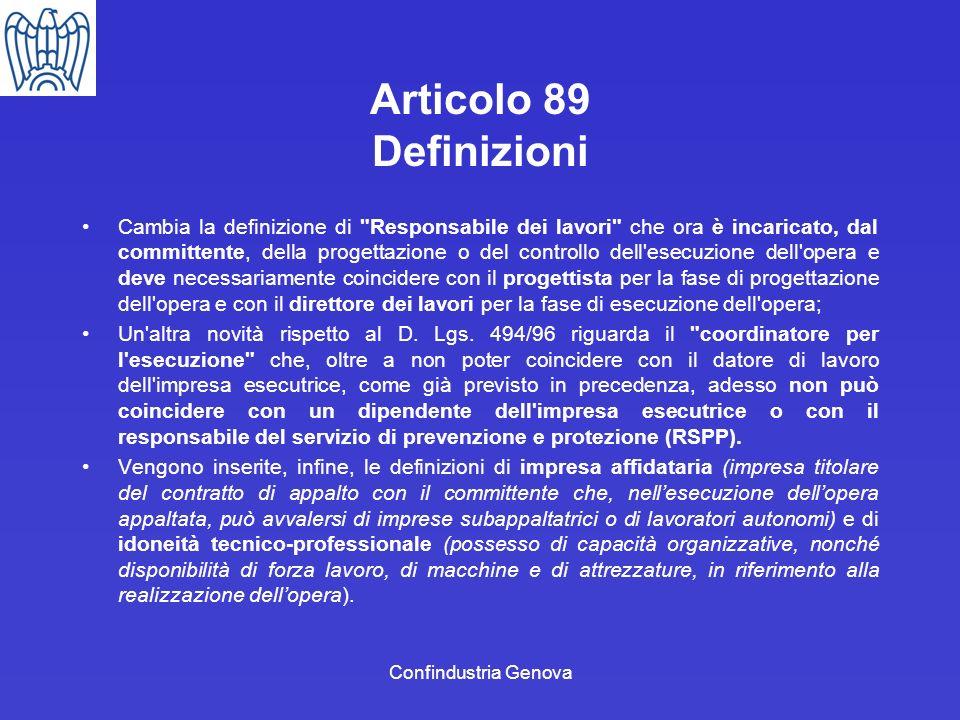 Confindustria Genova Articolo 89 Definizioni Cambia la definizione di
