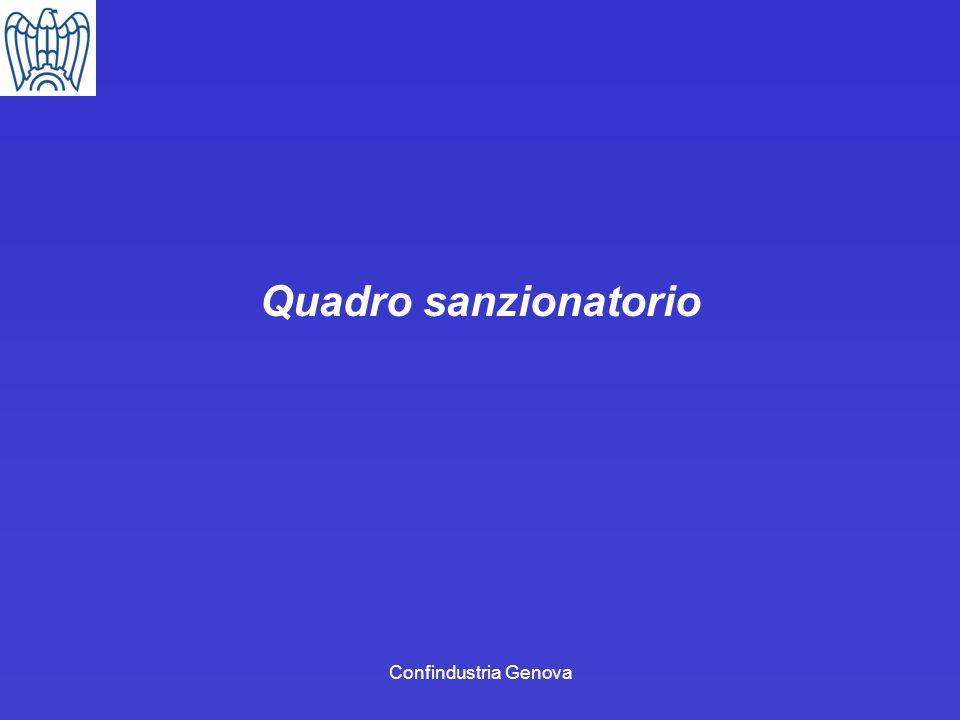 Confindustria Genova Quadro sanzionatorio