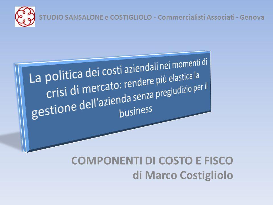 La politica dei costi aziendali nei momenti di crisi di mercato Svalutazioni di valore 1.Cambiamento: a)nelle condizioni di utilizzo (V.