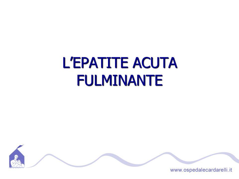 LEPATITE ACUTA FULMINANTE
