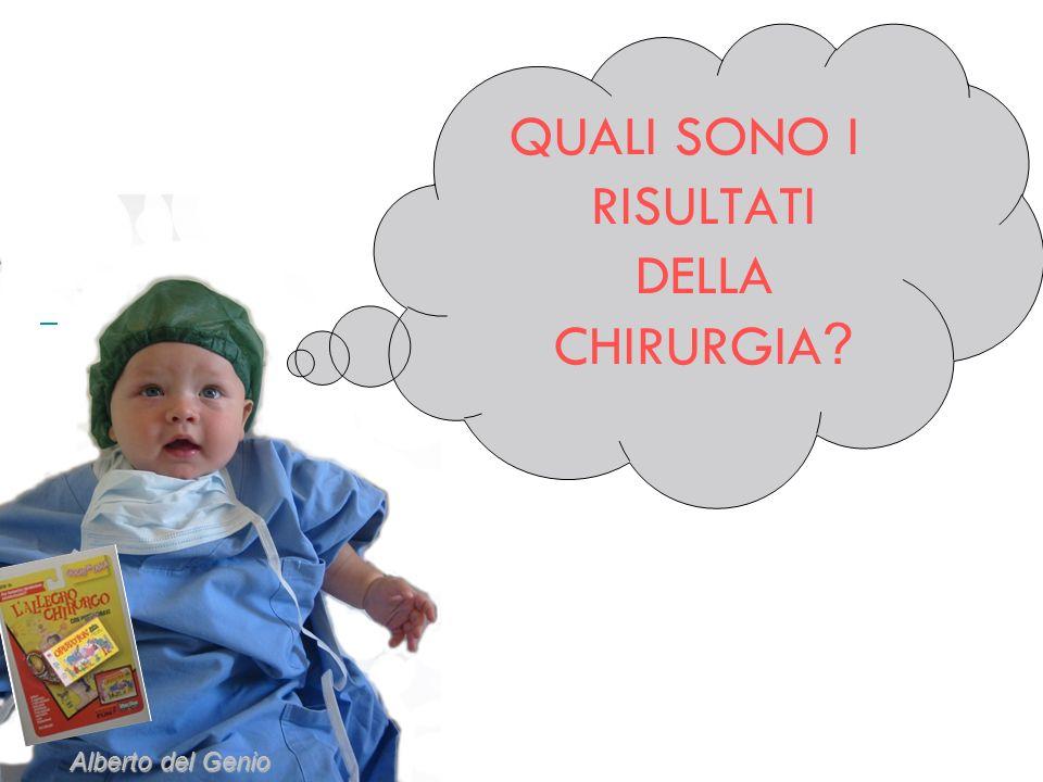 QUALI SONO I RISULTATI DELLA CHIRURGIA ? Alberto del Genio