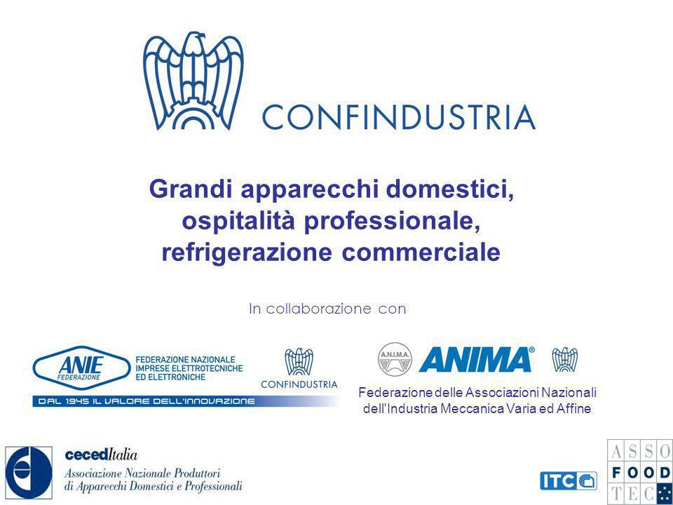 Grandi apparecchi domestici, ospitalità professionale, refrigerazione commerciale In collaborazione con Federazione delle Associazioni Nazionali dell'