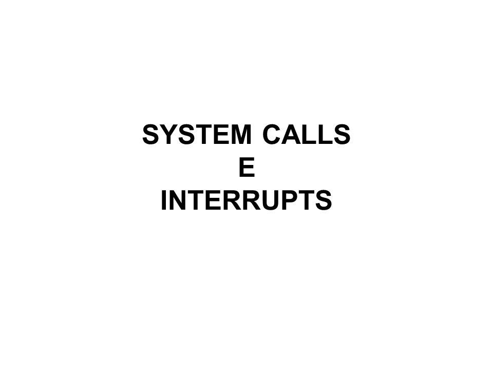 SYSTEM CALLS E INTERRUPTS