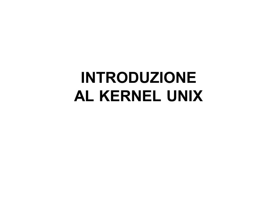 INTRODUZIONE AL KERNEL UNIX