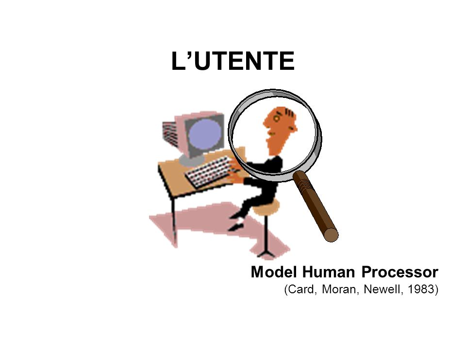 LUTENTE Model Human Processor (Card, Moran, Newell, 1983)
