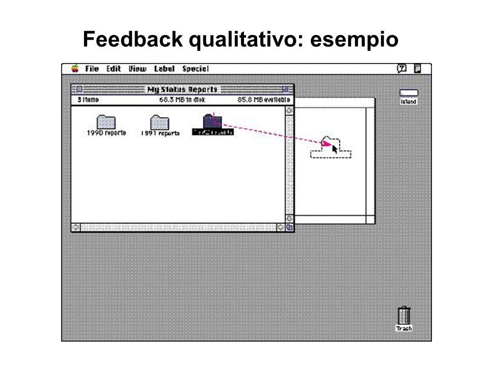 Feedback qualitativo: esempio
