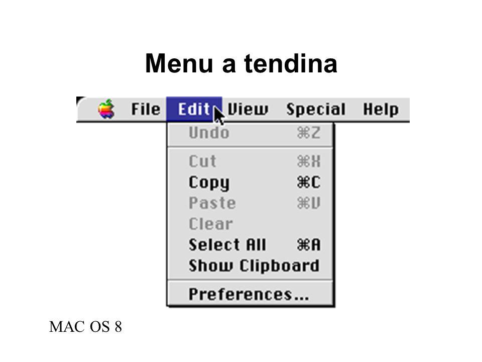 Menu a tendina MAC OS 8