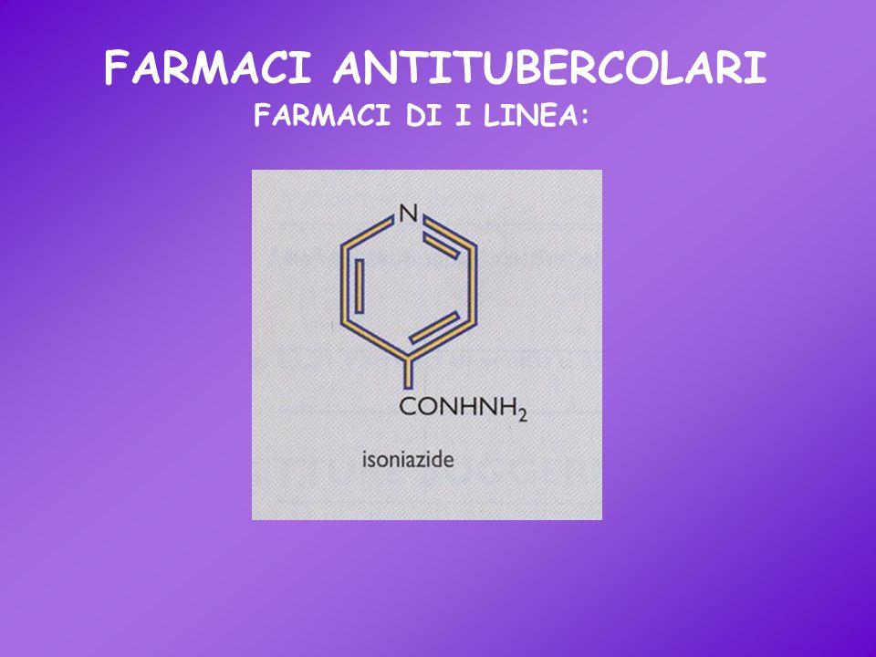FARMACI ANTITUBERCOLARI FARMACI DI I LINEA: