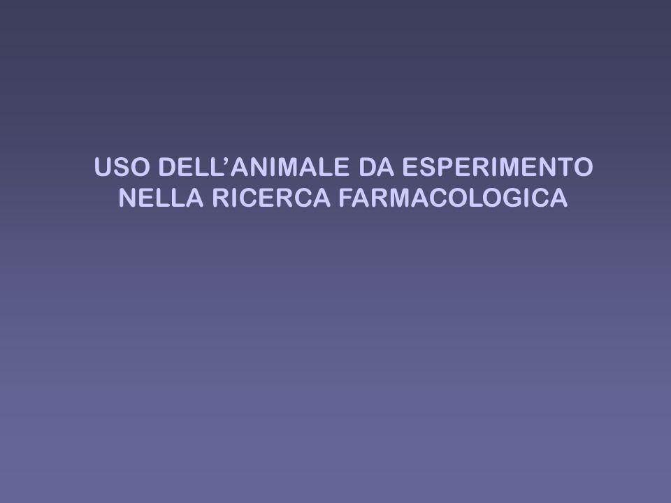 USO DELLANIMALE DA ESPERIMENTO NELLA RICERCA FARMACOLOGICA