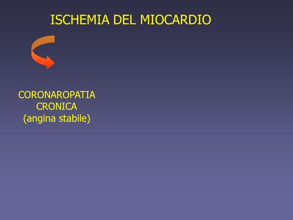 ISCHEMIA DEL MIOCARDIO CORONAROPATIA CRONICA (angina stabile)