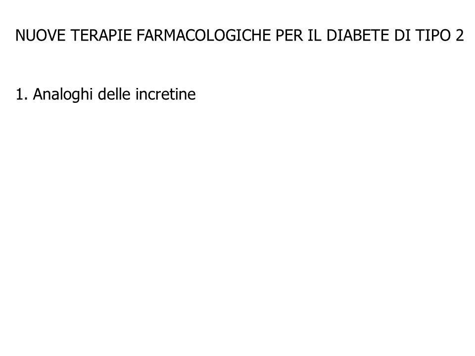 NUOVE TERAPIE FARMACOLOGICHE PER IL DIABETE DI TIPO 2 1.Analoghi delle incretine