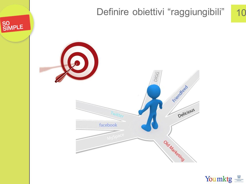 Definire obiettivi raggiungibili 10