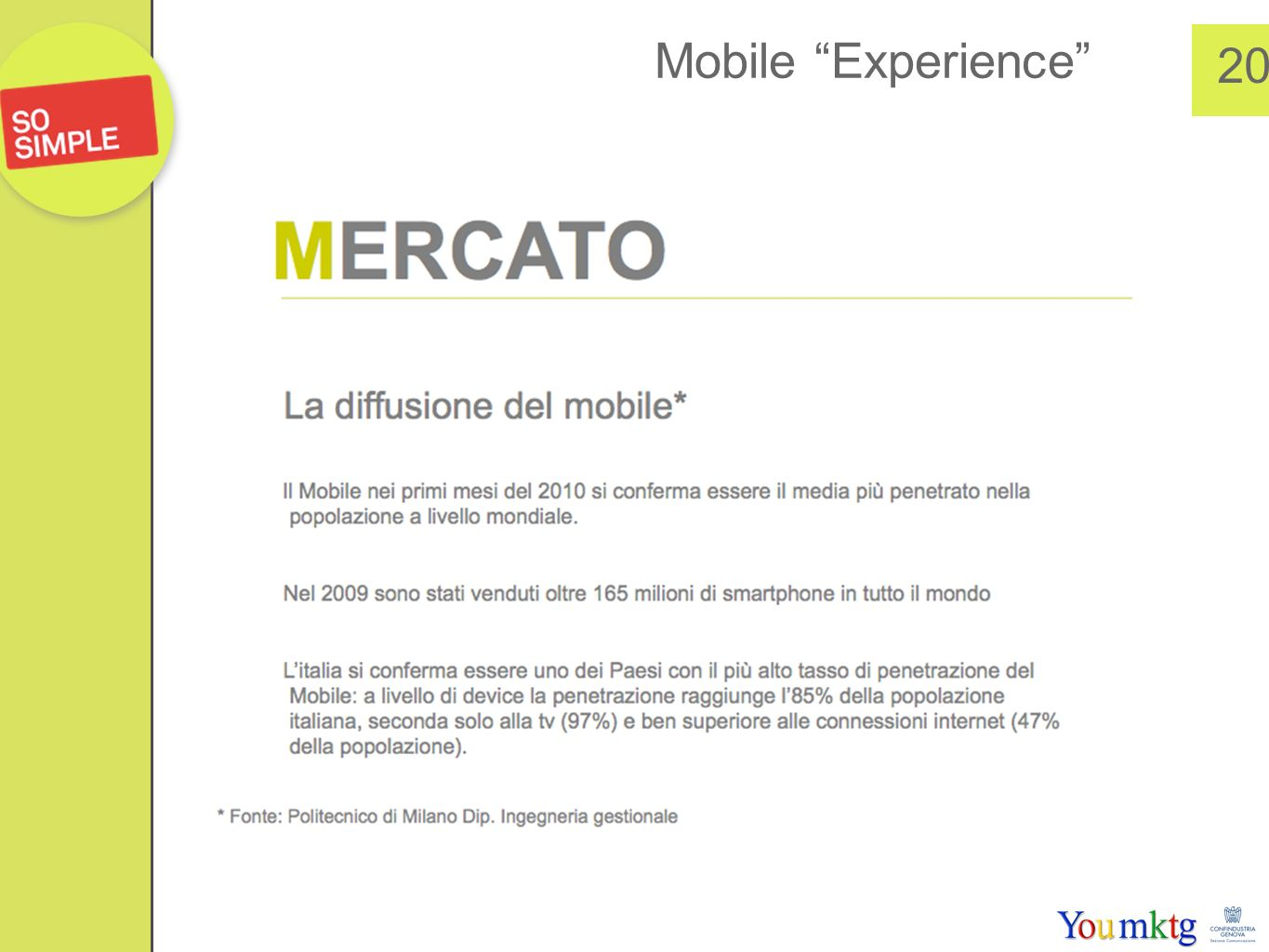 Mobile Experience 20