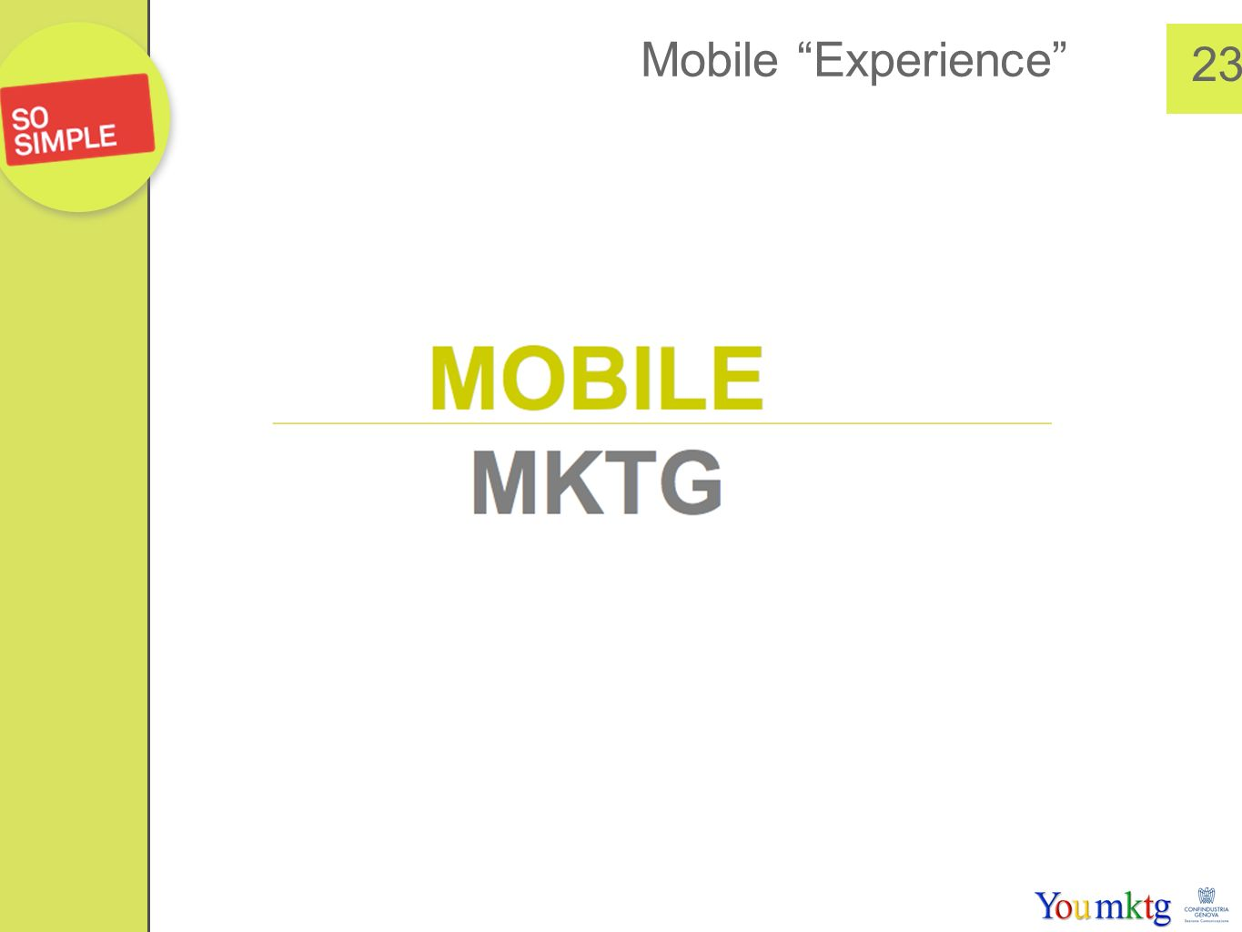 Mobile Experience 23