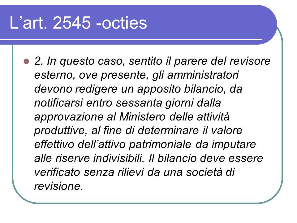 Lart. 2545 -octies 2.
