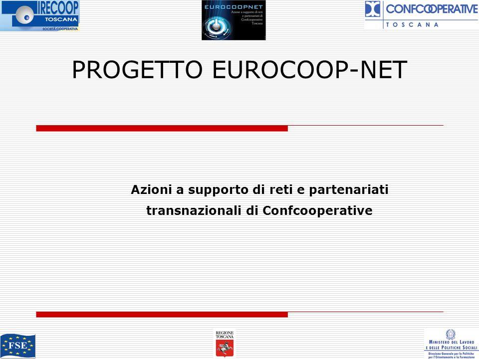 PROGETTO EUROCOOP-NET Azioni a supporto di reti e partenariati transnazionali di Confcooperative