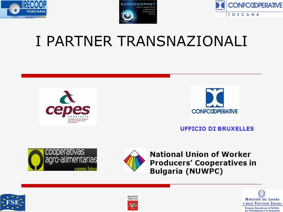 I PARTNER TRANSNAZIONALI UFFICIO DI BRUXELLES National Union of Worker Producers Cooperatives in Bulgaria (NUWPC)