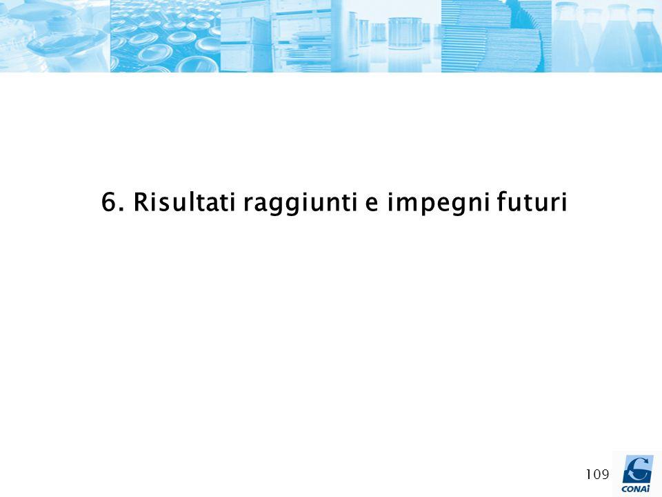 109 6. Risultati raggiunti e impegni futuri
