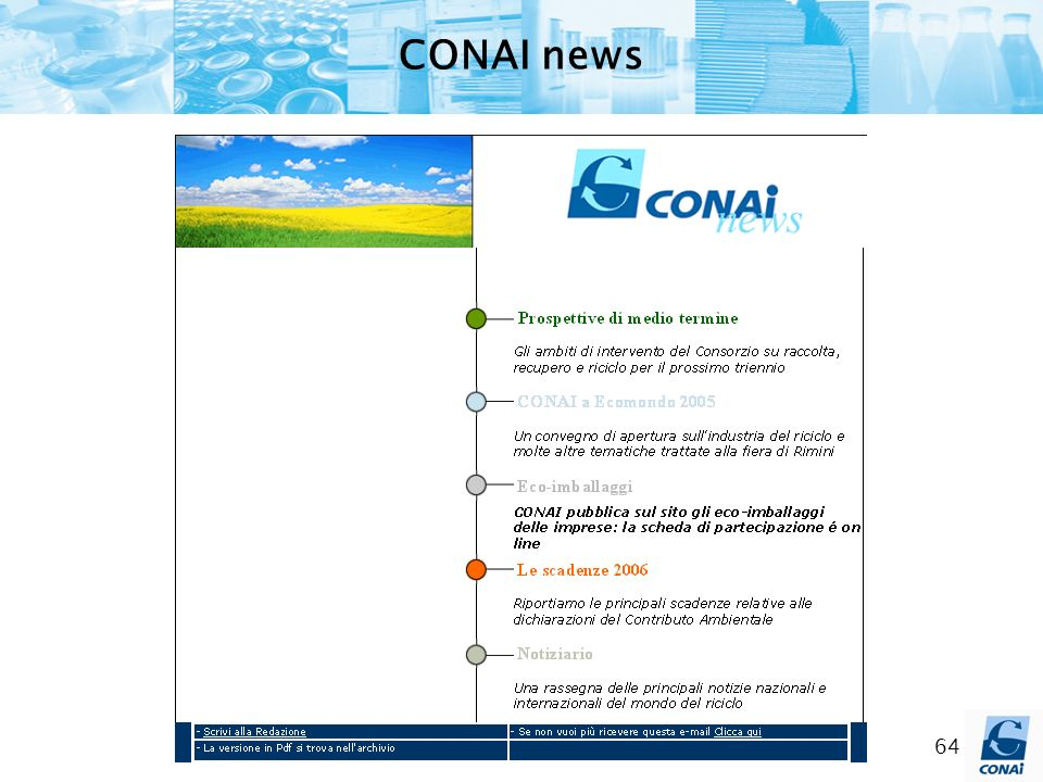 64 CONAI news