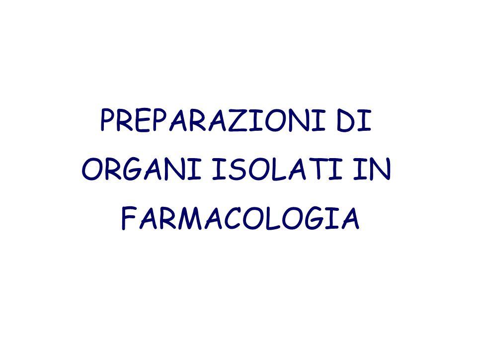PREPARAZIONI DI ORGANI ISOLATI IN FARMACOLOGIA