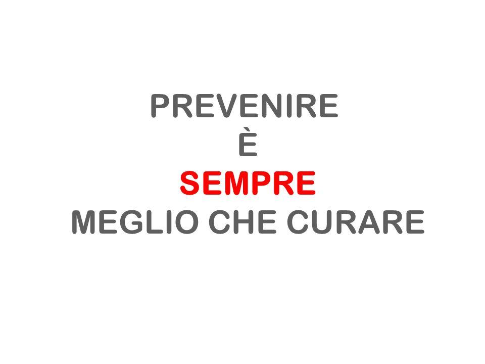 PREVENIRE È SEMPRE MEGLIO CHE CURARE