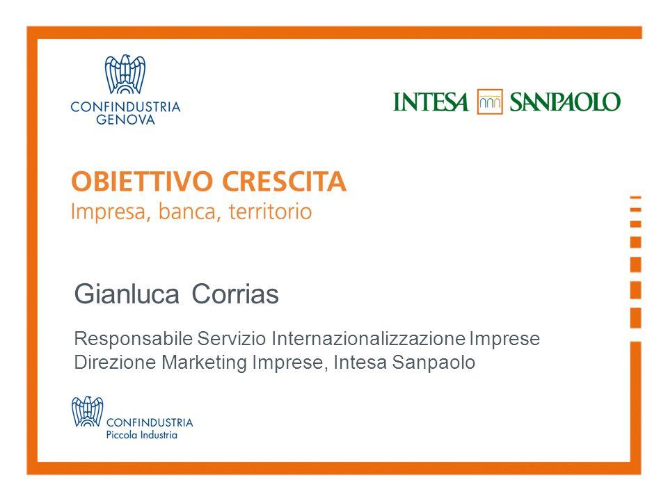 Gianluca Corrias Responsabile Servizio Internazionalizzazione Imprese Direzione Marketing Imprese, Intesa Sanpaolo