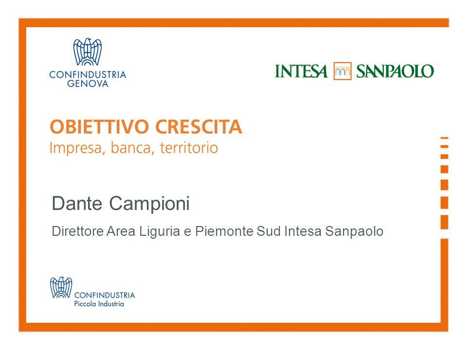 Dante Campioni Direttore Area Liguria e Piemonte Sud Intesa Sanpaolo