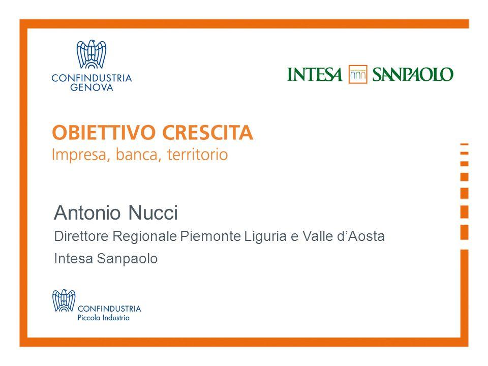 Antonio Nucci Direttore Regionale Piemonte Liguria e Valle dAosta Intesa Sanpaolo