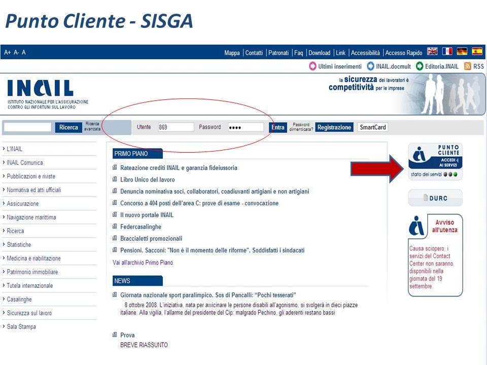 Punto Cliente - SISGA