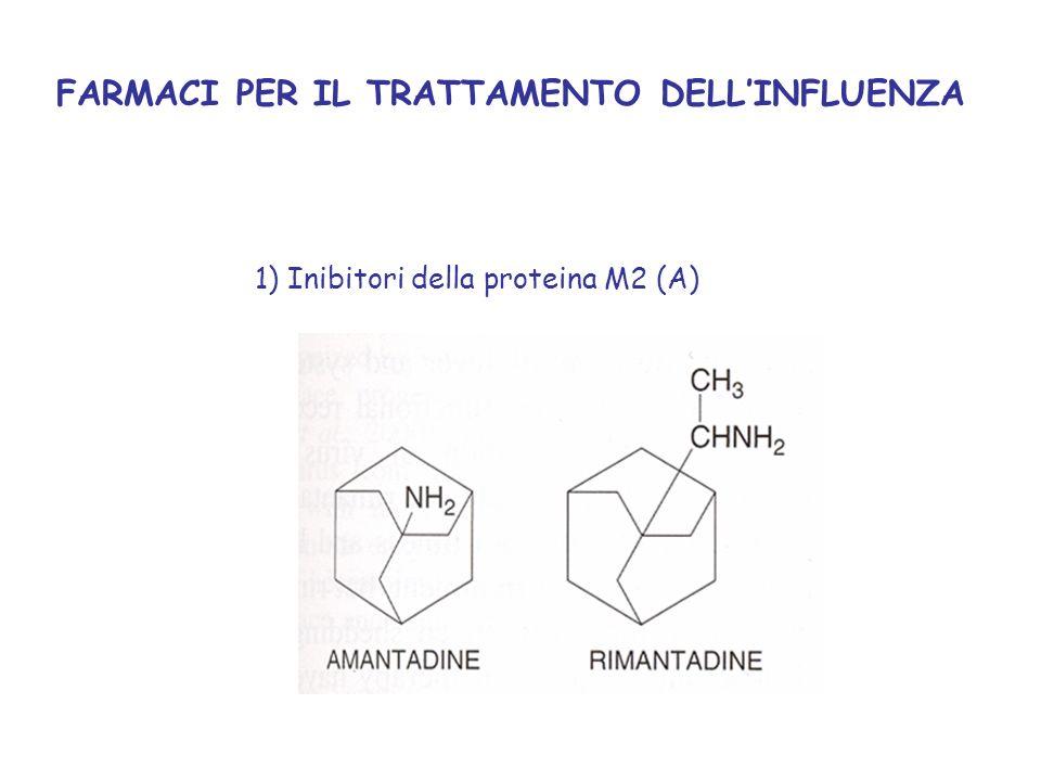 FARMACI PER IL TRATTAMENTO DELLINFLUENZA 1) Inibitori della proteina M2 (A)