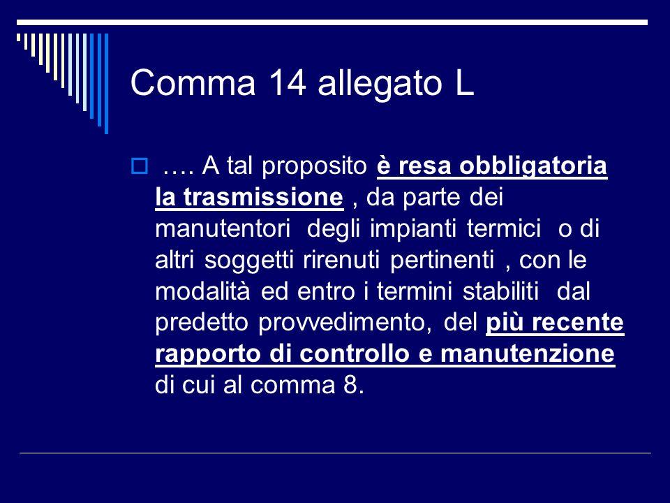 Comma 14 allegato L ….