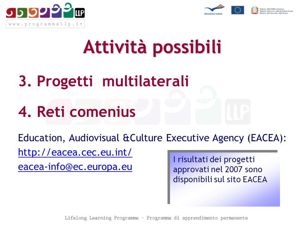 Attività possibili 3. Progetti multilaterali 4.