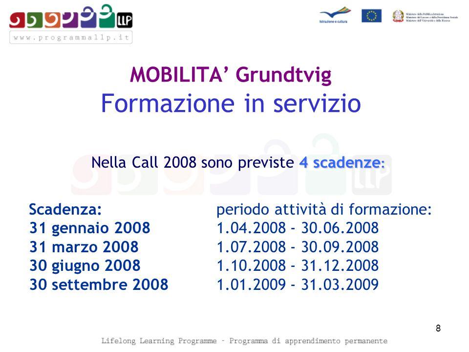 PARTENARIATI TIPOLOGIA DI MOBILITA: Scambio del personale Incontri di Partenariato Mobilità dei discenti