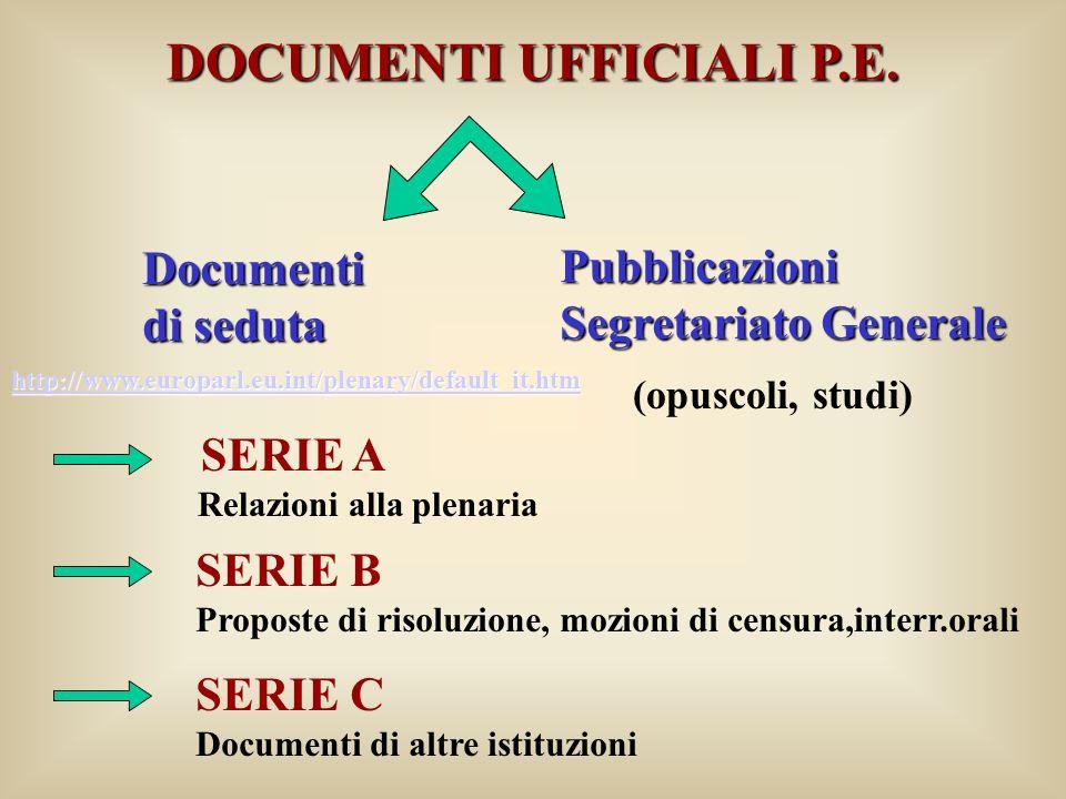 DOCUMENTI UFFICIALI P.E.