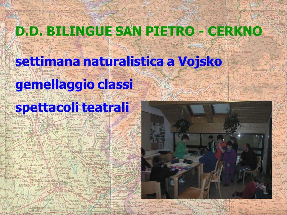 D.D. BILINGUE SAN PIETRO - CERKNO settimana naturalistica a Vojsko gemellaggio classi spettacoli teatrali