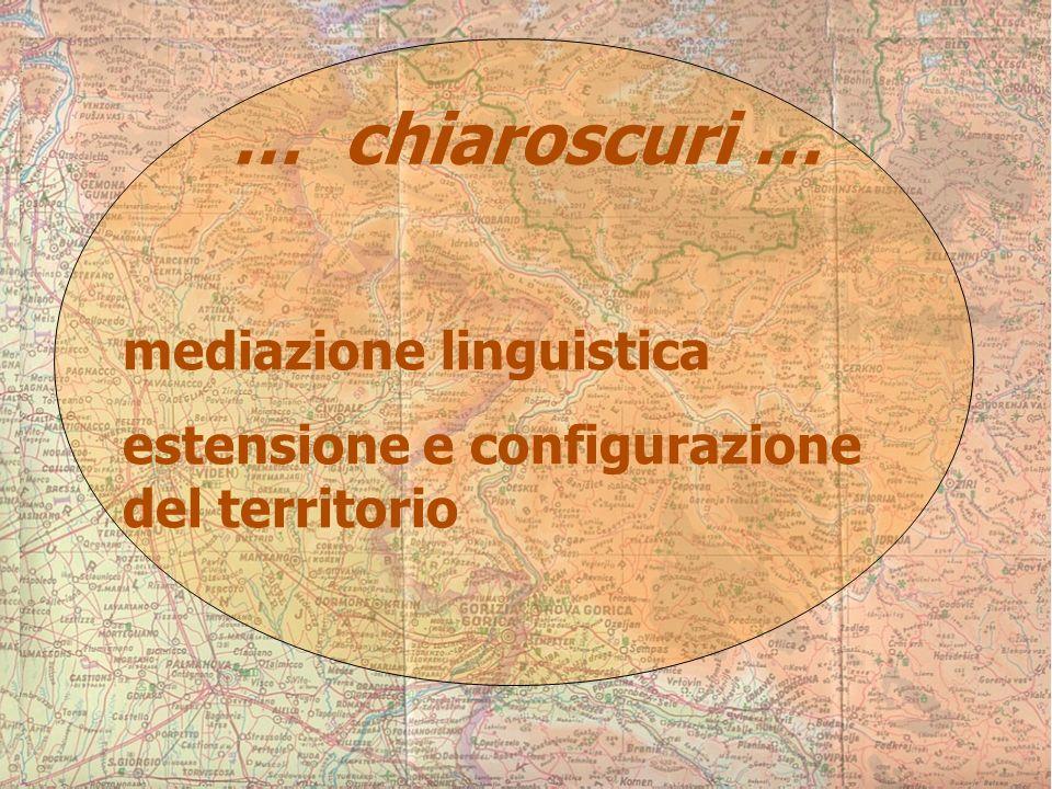 … chiaroscuri … mediazione linguistica estensione e configurazione del territorio