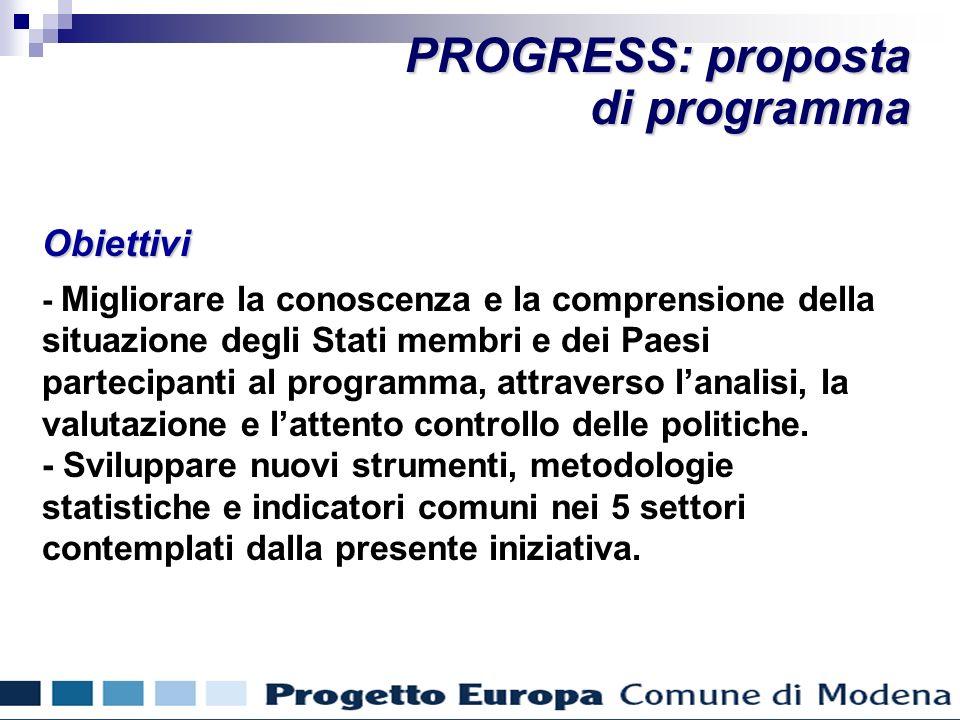 Obiettivi - Migliorare la conoscenza e la comprensione della situazione degli Stati membri e dei Paesi partecipanti al programma, attraverso lanalisi, la valutazione e lattento controllo delle politiche.