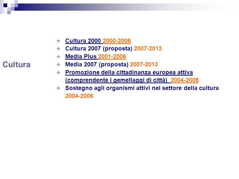 CULTURA 2000 Obiettivi 1.