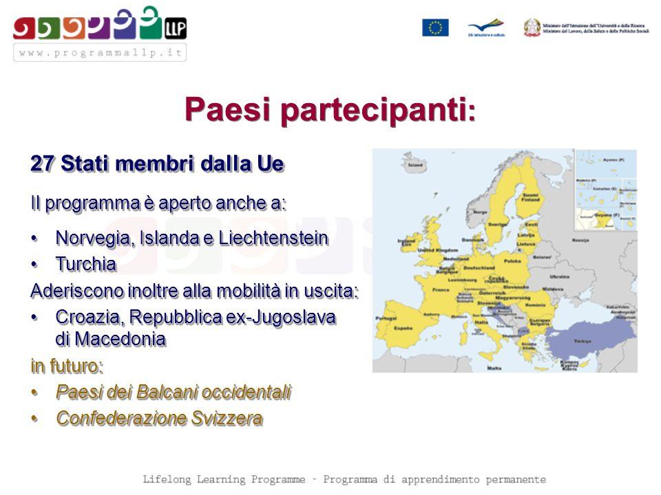 durata possibile: fino a 12 settimane presso unorganizzazione impegnata nelleducazione degli adulti in un altro paese partecipante a LLP Scadenza: 8 settimane prima delleffettuazione dell attività, per attività che si svolgono tra il 1 gennaio 2009 ed il 30 aprile 2010.