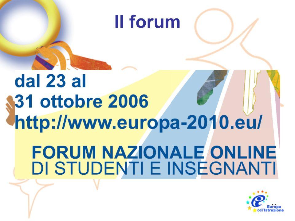 11 Il forum