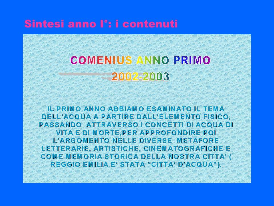 Diffusione risultati Mostra itinerante maggio-giugno 2005 Programma accoglienza classi iniziali Scuole partner Sito Agac/Enia (ariosto-spallanzani agac) Sito Istituto (in ristrutturazione, http://ariosto-spallanzani.net)ariosto-spallanzani.net Cd-rom con tutti i lavori dei partner a cura del Liceo M.T.Varronedi Rieti (coordinatore, liceoclassicovarronerieti.it