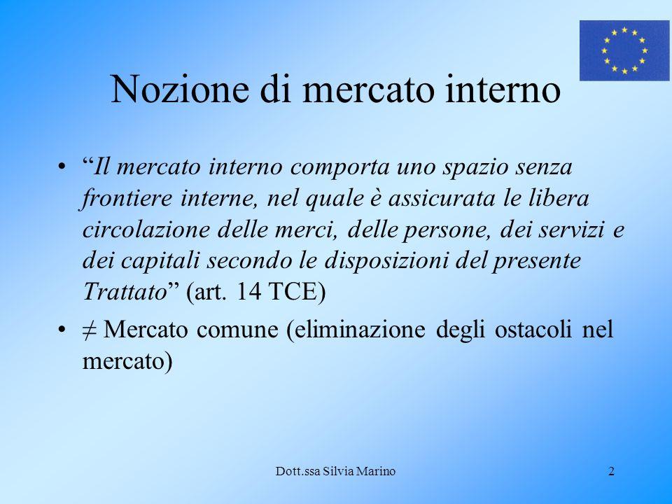 Dott.ssa Silvia Marino13 Libera prestazione di servizi 1.