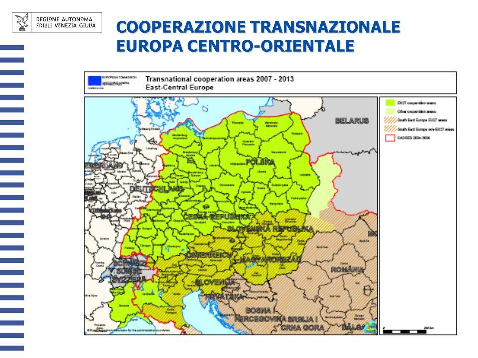 COOPERAZIONE TRANSNAZIONALE EUROPA CENTRO-ORIENTALE