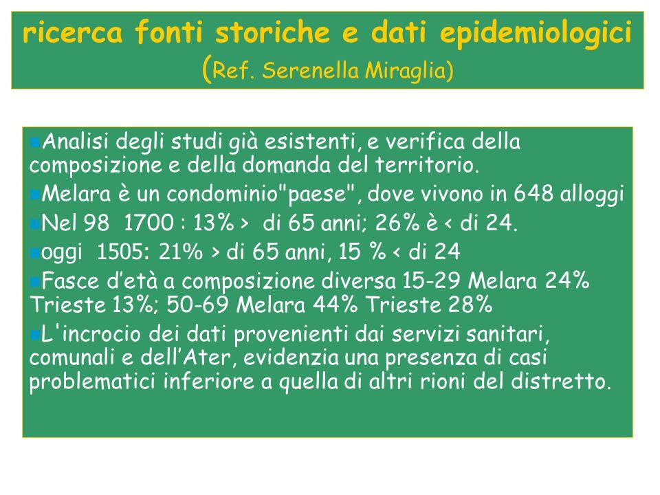 ricerca fonti storiche e dati epidemiologici ( Ref.