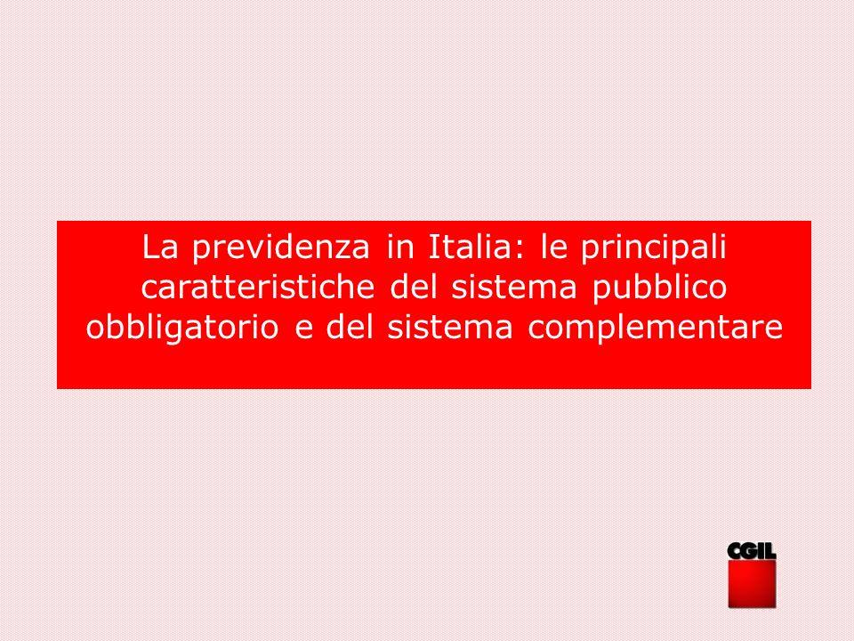 La previdenza in Italia: fattori di crisi del sistema I fattori che hanno determinato lintervento normativo, attuatosi attraverso le riforme degli anni 90, sono: Fattori finanziari Fattori demografici Iniquità redistributive