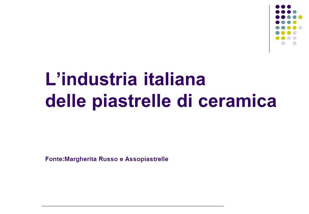 Lindustria italiana delle piastrelle di ceramica Fonte:Margherita Russo e Assopiastrelle