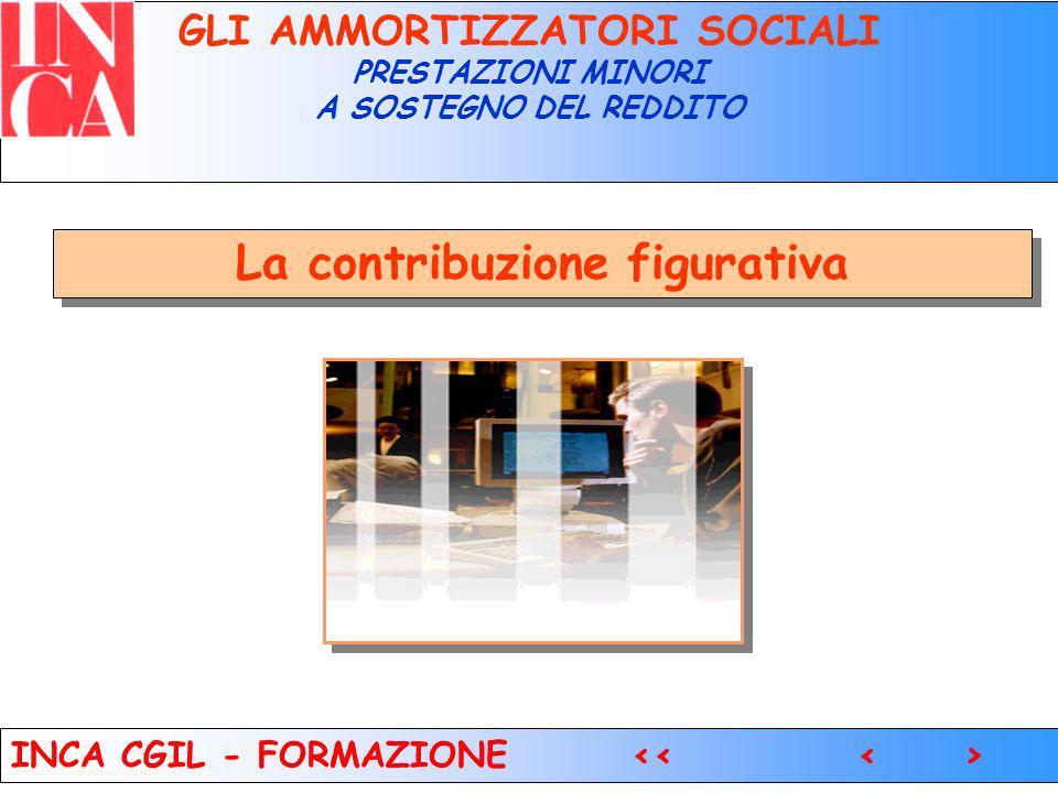 8 GLI AMMORTIZZATORI SOCIALI PRESTAZIONI MINORI A SOSTEGNO DEL REDDITO La contribuzione figurativa INCA CGIL - FORMAZIONE