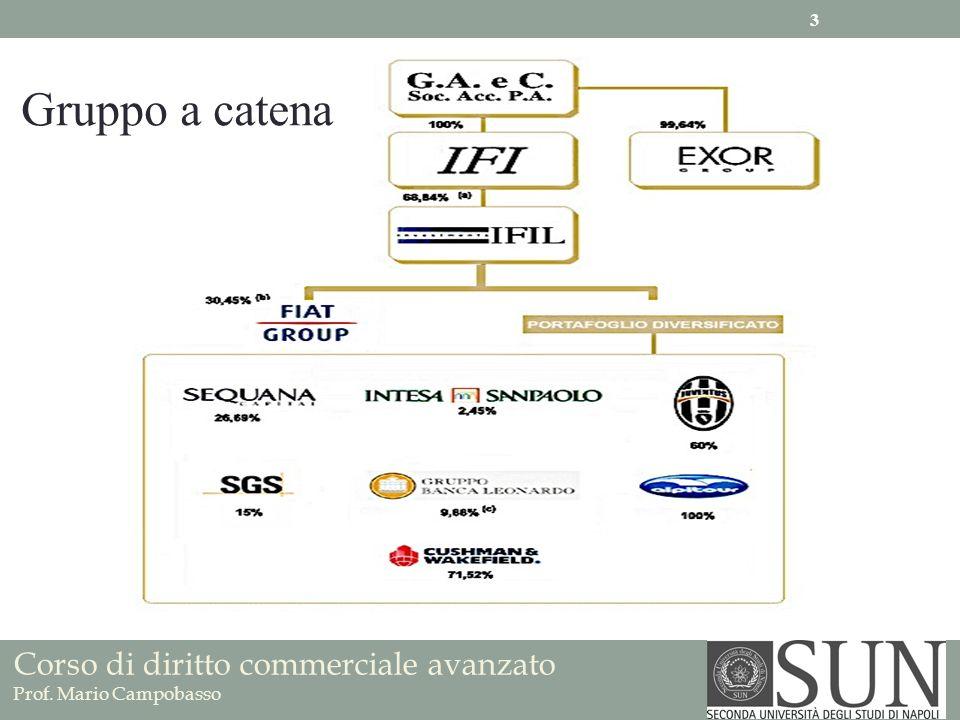 Corso di diritto commerciale avanzato Prof. Mario Campobasso Gruppo a catena 3