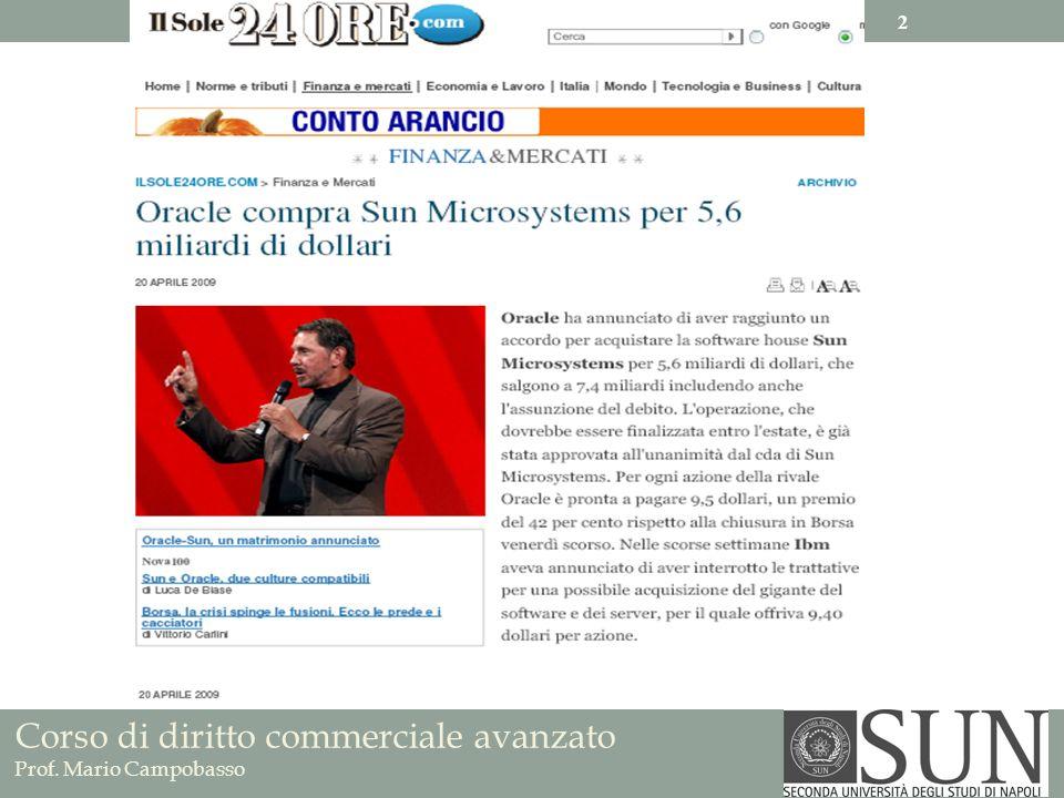 Corso di diritto commerciale avanzato Prof. Mario Campobasso 2