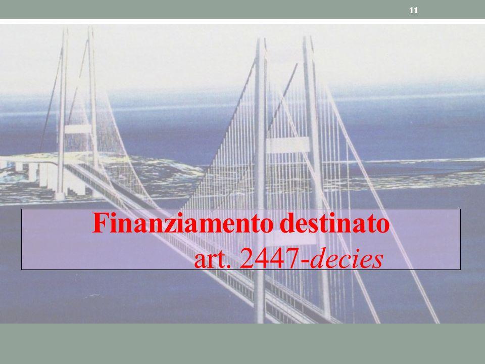 11 Finanziamento destinato art. 2447-decies